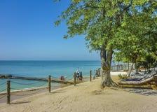 Île-hôtel tropicale à Carthagène Colombie Photo libre de droits