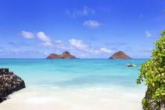 Île Hawaï de Mokulua Images stock