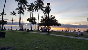 Île Hawaï Etats-Unis d'Oahu de plage de Waikiki images stock