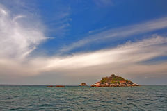 Île isolée Photo stock