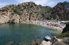 Île Italie de Costa Paradiso Sardinia de plage de Li Cossi Photo libre de droits