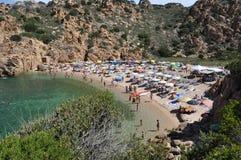 Île Italie de Costa Paradiso Sardinia de plage de Li Cossi Photos stock