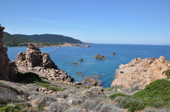 Île Italie de Costa Paradiso Sardinia de plage de Li Cossi Photographie stock libre de droits