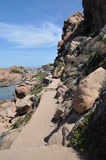 Île Italie de Costa Paradiso Sardinia de plage de Li Cossi Image libre de droits