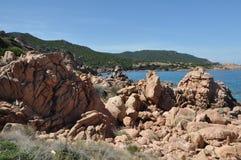 Île Italie de Costa Paradiso Sardinia de plage de Li Cossi Photo stock