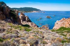 Île Italie de Costa Paradiso Sardinia de plage de Li Cossi Photographie stock