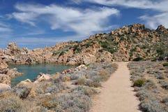 Île Italie de Costa Paradiso Sardinia de plage de Li Cossi Image stock