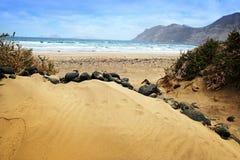 île jaune canari Lanzarote de dune Photo stock