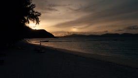 Île KO-HE en Thaïlande, tirant d'un quadrocopter Photographie stock libre de droits