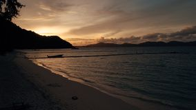 Île KO-HE en Thaïlande, tirant d'un quadrocopter Photos libres de droits