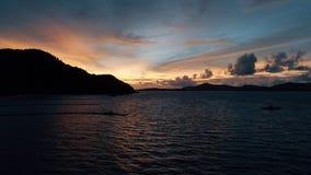 Île KO-HE en Thaïlande, tirant d'un quadrocopter Photo stock