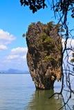 Île Ko Tapu de James Bond Photos stock
