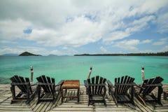 Île Koh Mak Trat Thailand de valeurs maximales de concentration au poste de travail Image stock