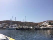 Île Kythnos un endroit à voyager là Image libre de droits