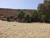 Île Kythnos un endroit à voyager là Image stock