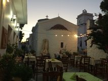 Île Kythnos un endroit à voyager là Photos libres de droits