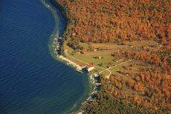 Île le Wisconsin de roche images stock