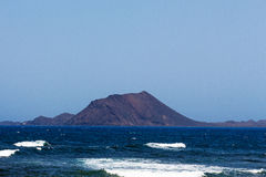 Île Lobos de Fuerteventura au soleil Photographie stock