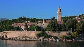 Île Lopud, archipel de Dubrovnik banque de vidéos