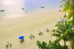 Île Malaisie de Pantai Cenang Langkawi Photos libres de droits