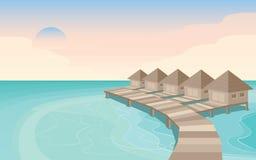 Île Maldives de ciel image stock
