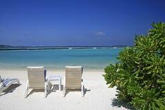 Île maldivienne Photos stock