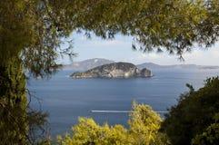 Île Marathonissi Image libre de droits