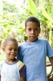 île Nicaragua de maïs de verticale d'enfants Photos libres de droits