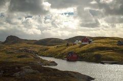 Île norvégienne Image libre de droits