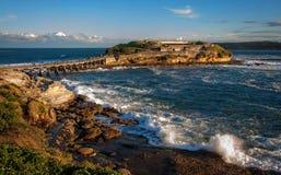 Île nue à l'heure d'or - Sydney, Australie Images libres de droits