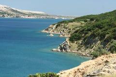 Île PAG-Croatie Photo libre de droits
