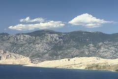 Île PAG-Croatie Images libres de droits