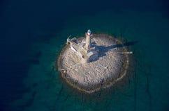 Île-phare Porer.jpg photo stock