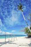 Île Philippines de boracay de connexion de plage de Puka Images libres de droits