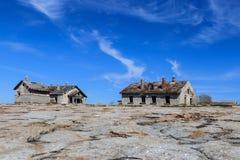 Île pierreuse du nord photos stock