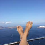 Île romantique Grèce de Santorini Photos stock