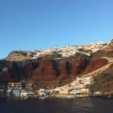 Île romantique Grèce de Santorini Image stock