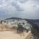 Île romantique Grèce de Santorini Images libres de droits