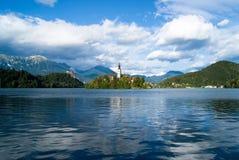 Île saignée en Slovénie Photo stock
