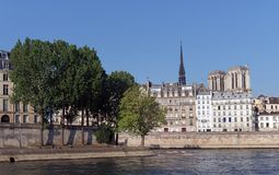 Île Saint louis and Île de la cité in Paris stock image