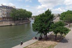 Île Saint louis in Paris royalty free stock photos