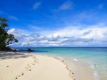 Île Sandy Beach View de Sipadan photographie stock libre de droits