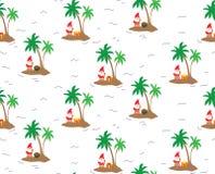 Île Santa Claus - modèle de répétition sans couture illustration stock