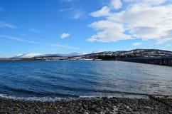 Île se reliante de haak de pont et île de baleine Photos stock