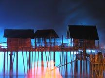 Île SENTOSA, Singapour, exposition de laser Photo stock