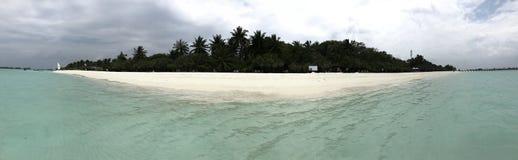 Île sur les Maldives images libres de droits