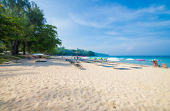 Île Thaïlande de phuket de saisons d'été de plage de modèle de sable de beauté Images stock