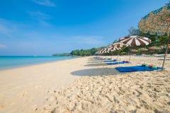 Île Thaïlande de phuket de saisons d'été de plage de modèle de sable de beauté Photographie stock libre de droits