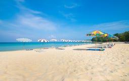 Île Thaïlande de phuket de saisons d'été de plage de modèle de sable de beauté Image stock