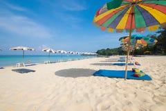 Île Thaïlande de phuket de saisons d'été de plage de modèle de sable de beauté Image libre de droits